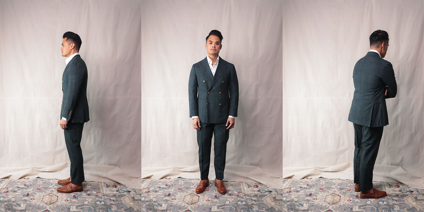 suitsupply custom made - fit check full body side front and back - effortless gent