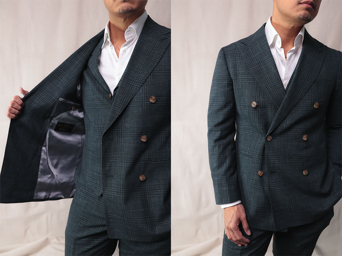 suitsupply custom made - custom 3 piece suit double breasted jacket open and closed - effortless gent