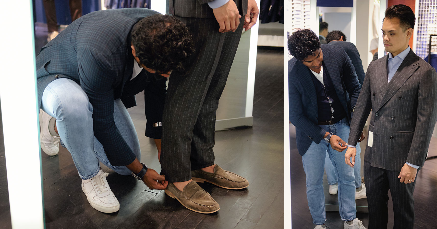 suitsupply custom made suit pants and jacket sleeve adjustments - effortless gent