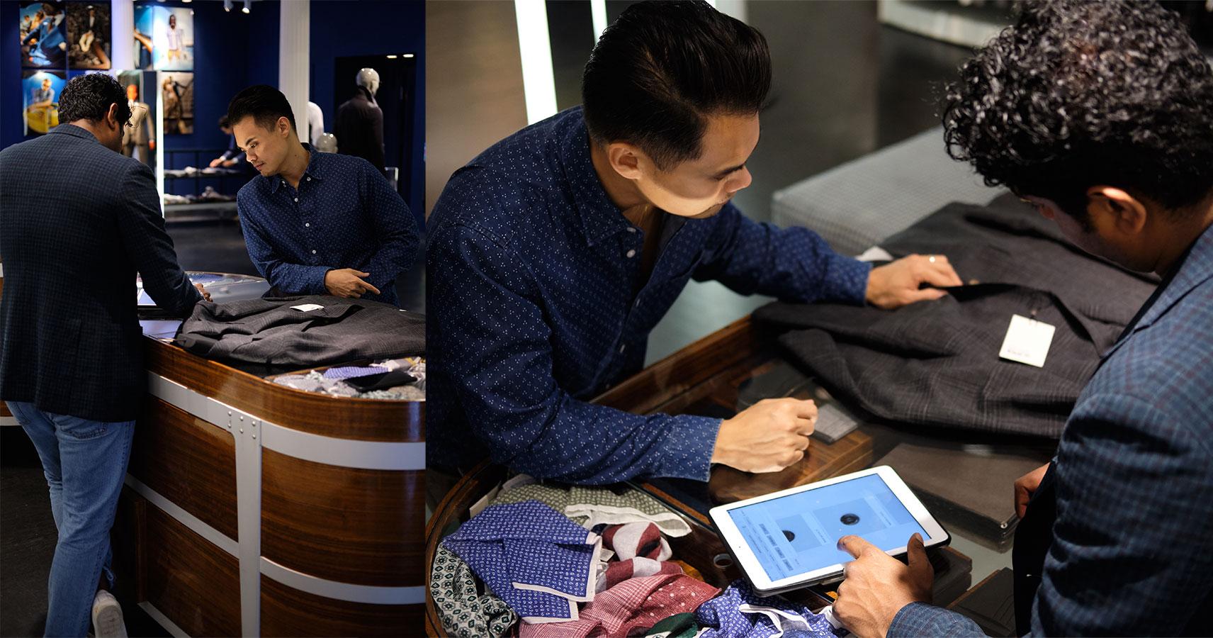 suitsupply custom made choosing buttons - effortless gent