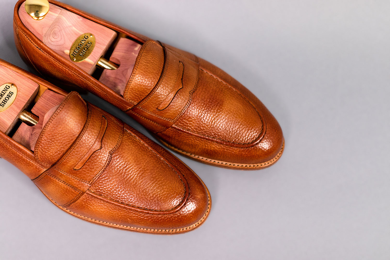 top down view of loafers from Herring