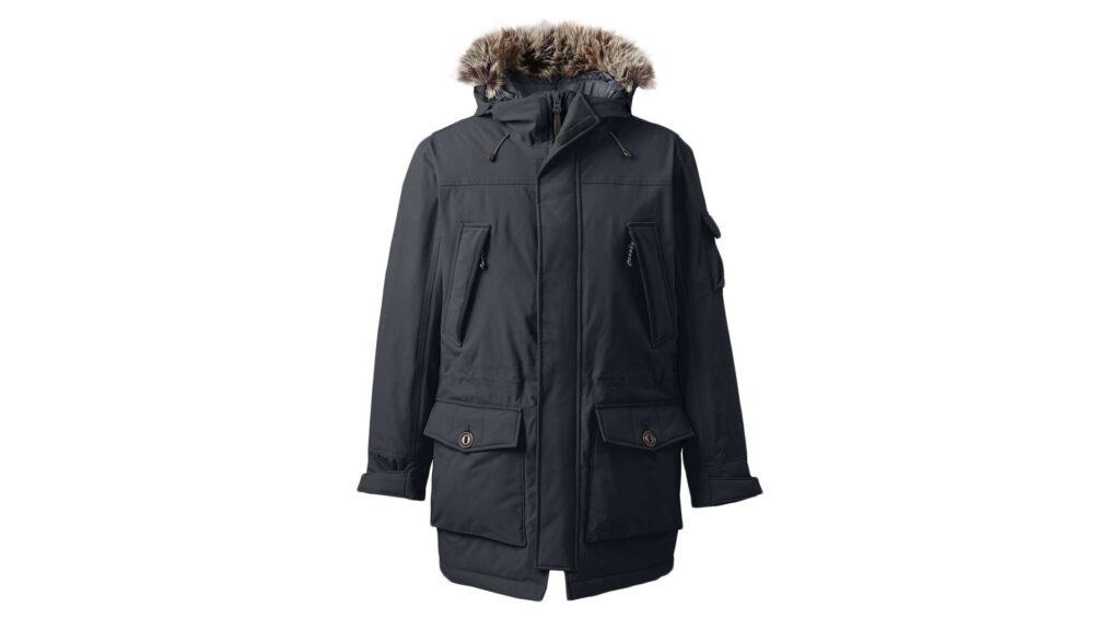 warm winter coat black parka