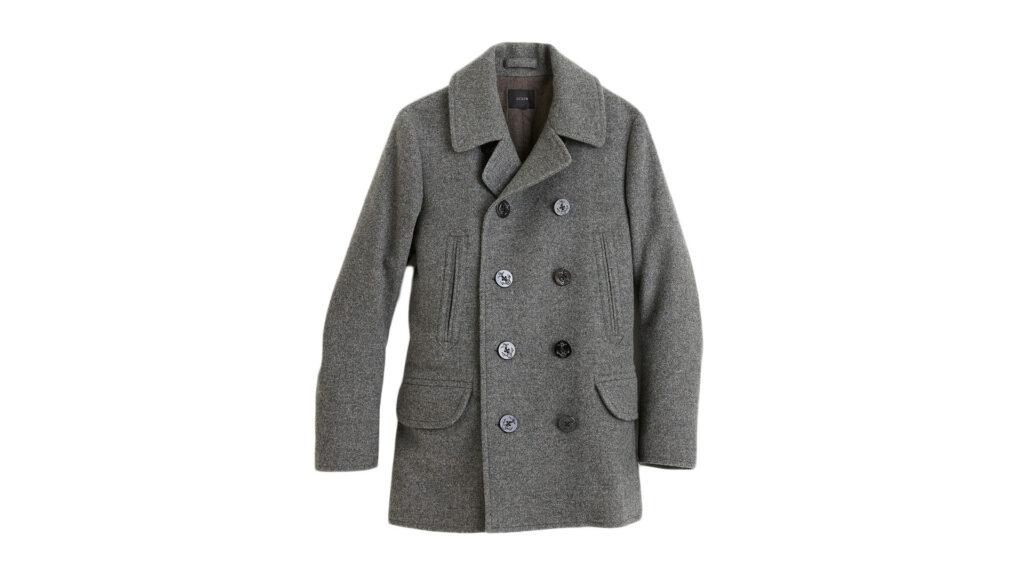 warm winter coat grey peacoat