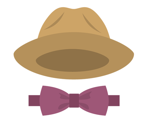 icon of hat and bow tie