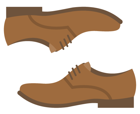 icon of brown dress shoes