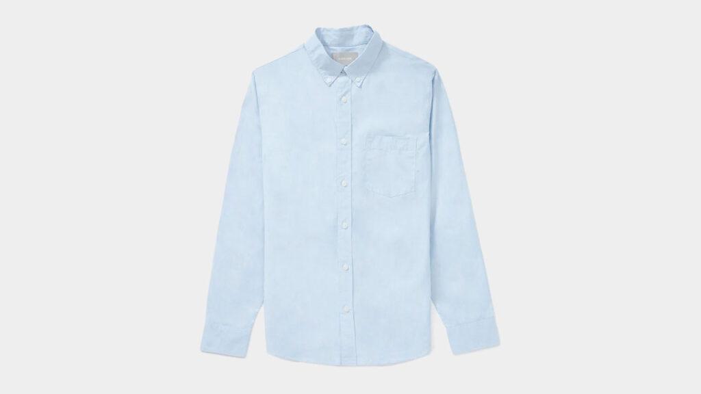 everlane oxford cloth button down