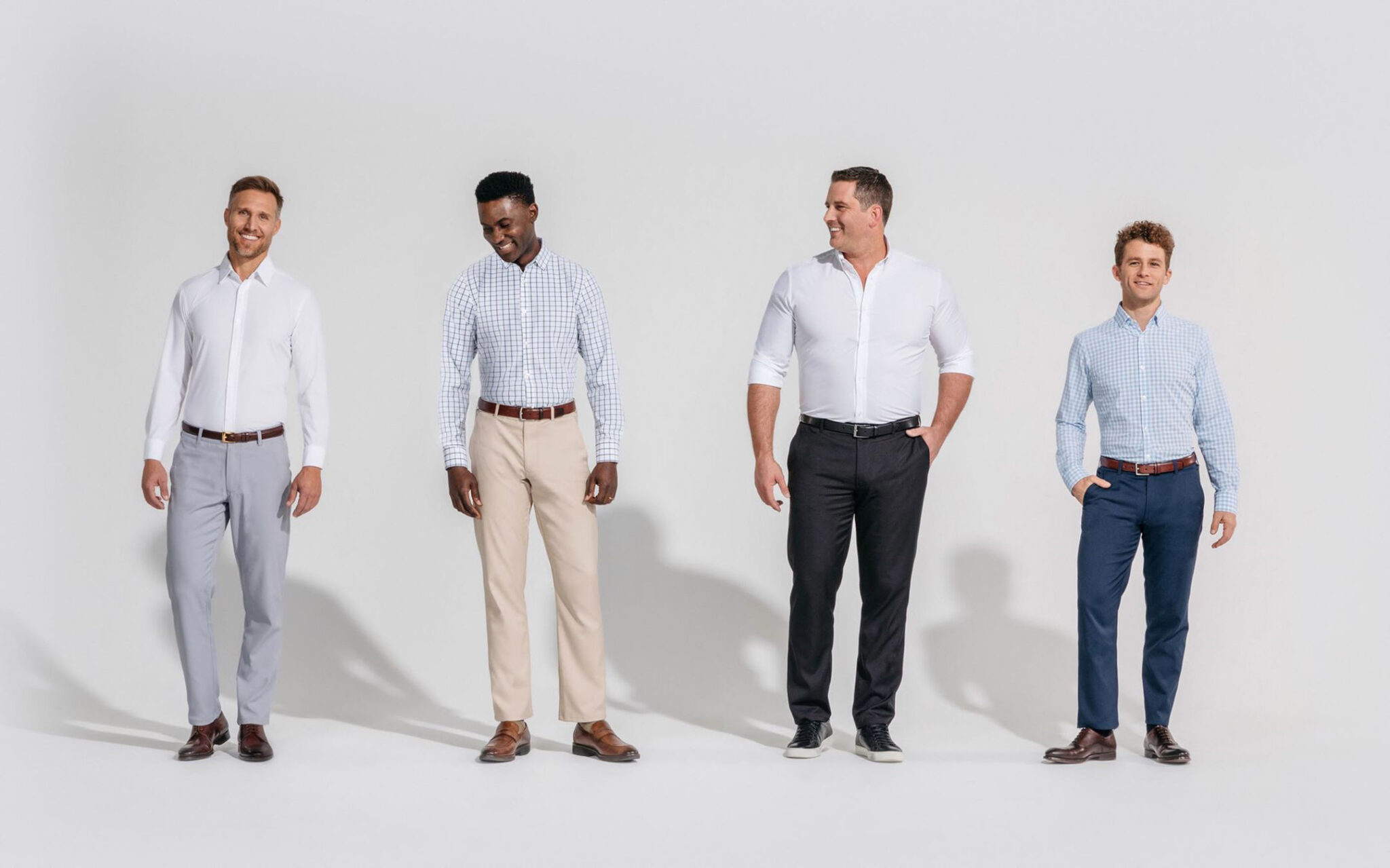 performance fabric chinos and shirts effortless gent