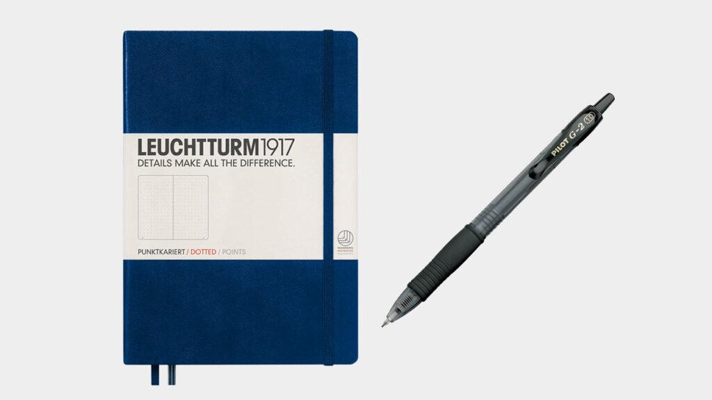 leuchtturm 1917 dotted notebook and pilot g2 pen