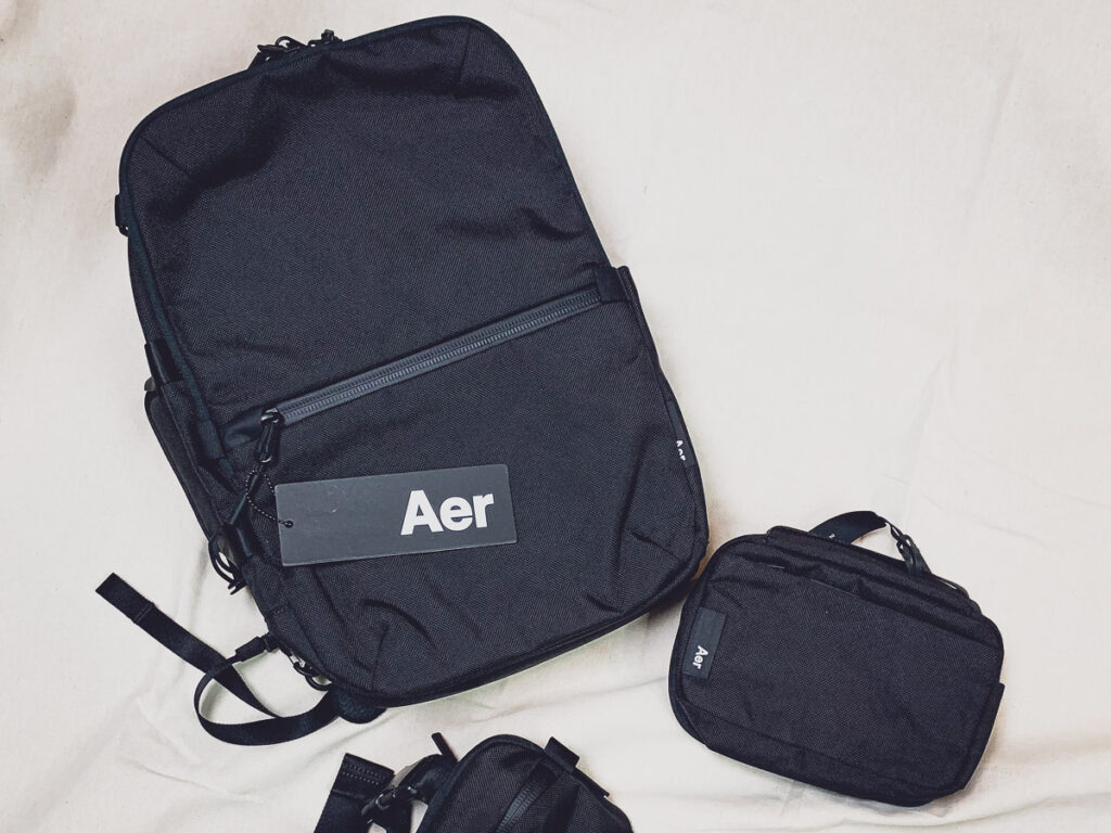 black backpack from Aer