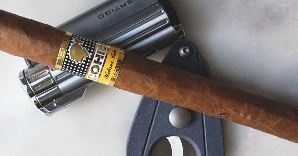 cigar cutter and lighter