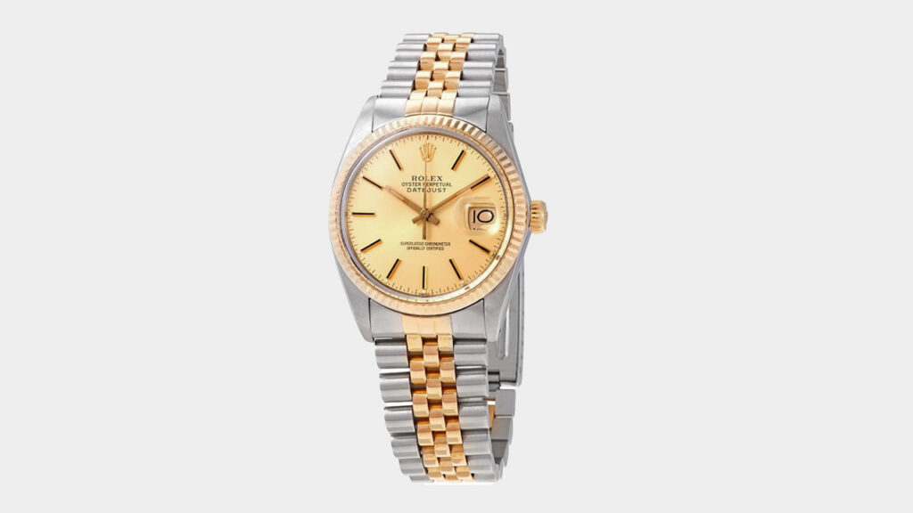 best entry level rolex - vintage two tone gold and steel rolex datejust with gold dial