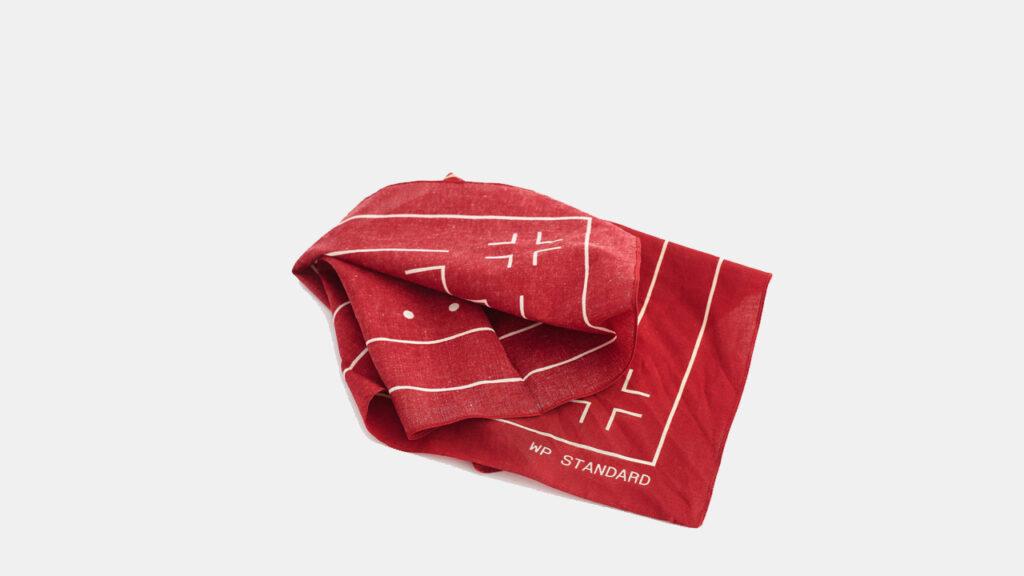 tough and rugged edc handkerchief, red wp standard bandana
