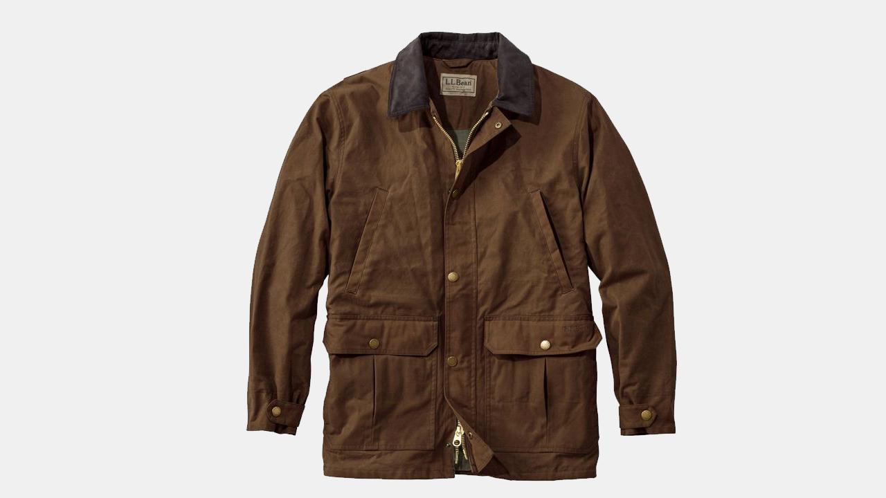 L.L. Bean Waxed Cotton Upland Coat