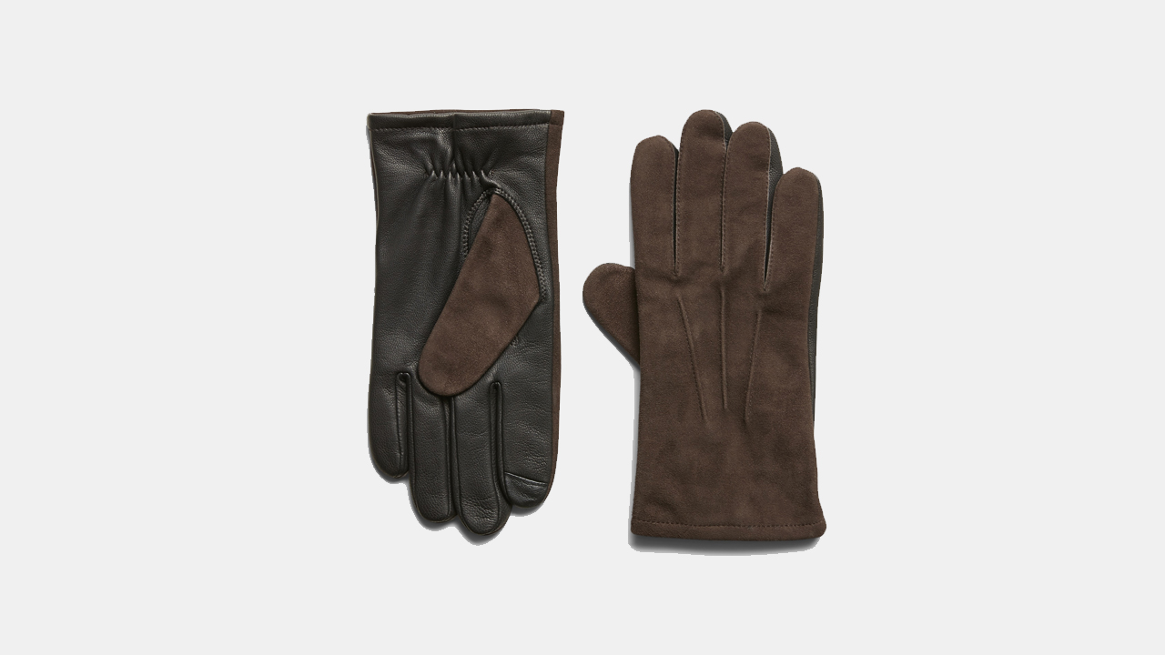 Banana Republic Mixed Leather and Suede Gloves