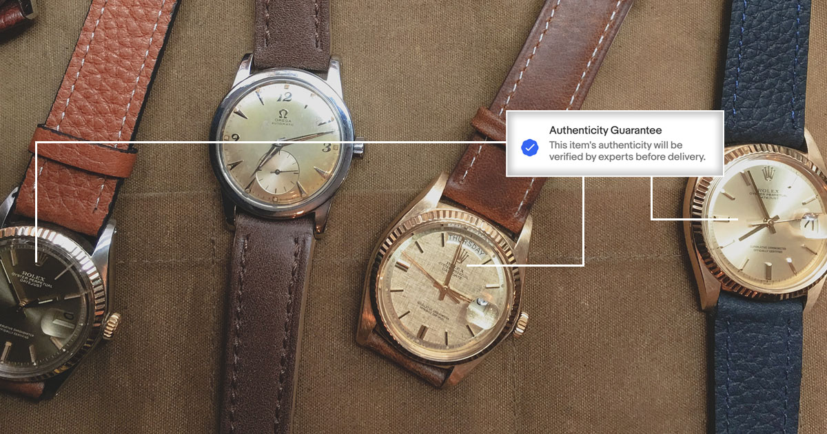 ebay authenticate watches - rolex watches on tan canvas background