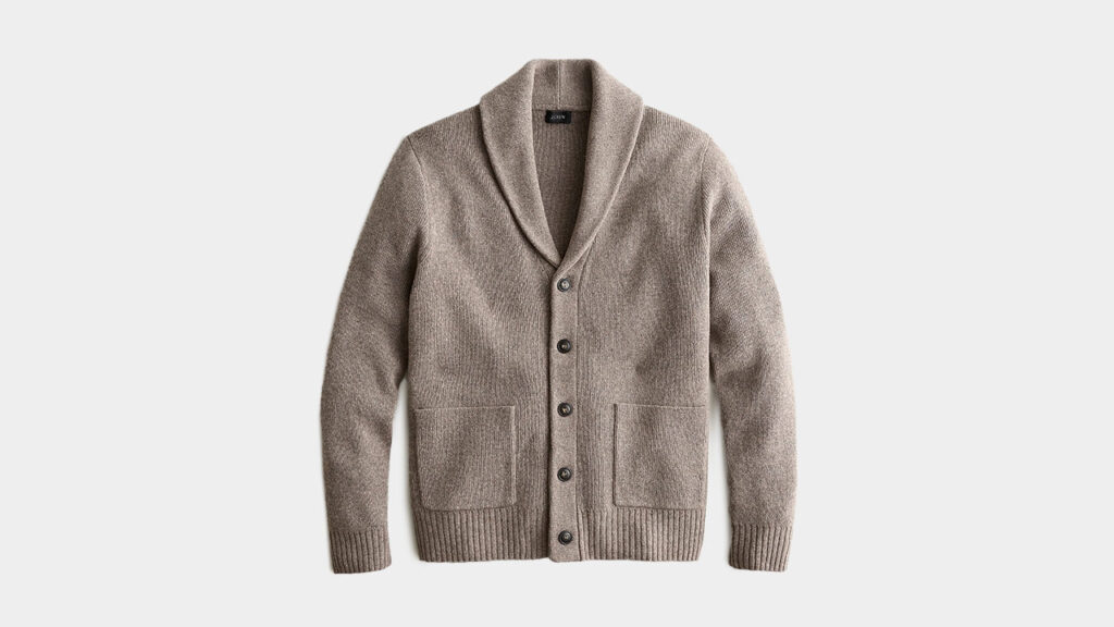 tan sweater jcrew mens shawl cardigan