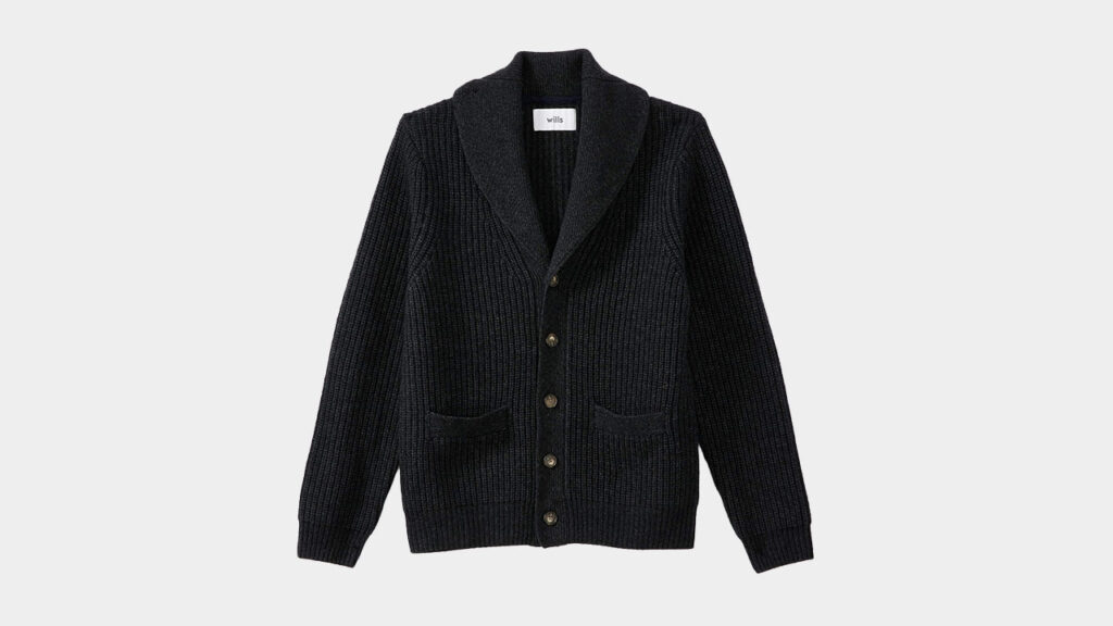 charcoal cardigan sweater wills men cashmere wool