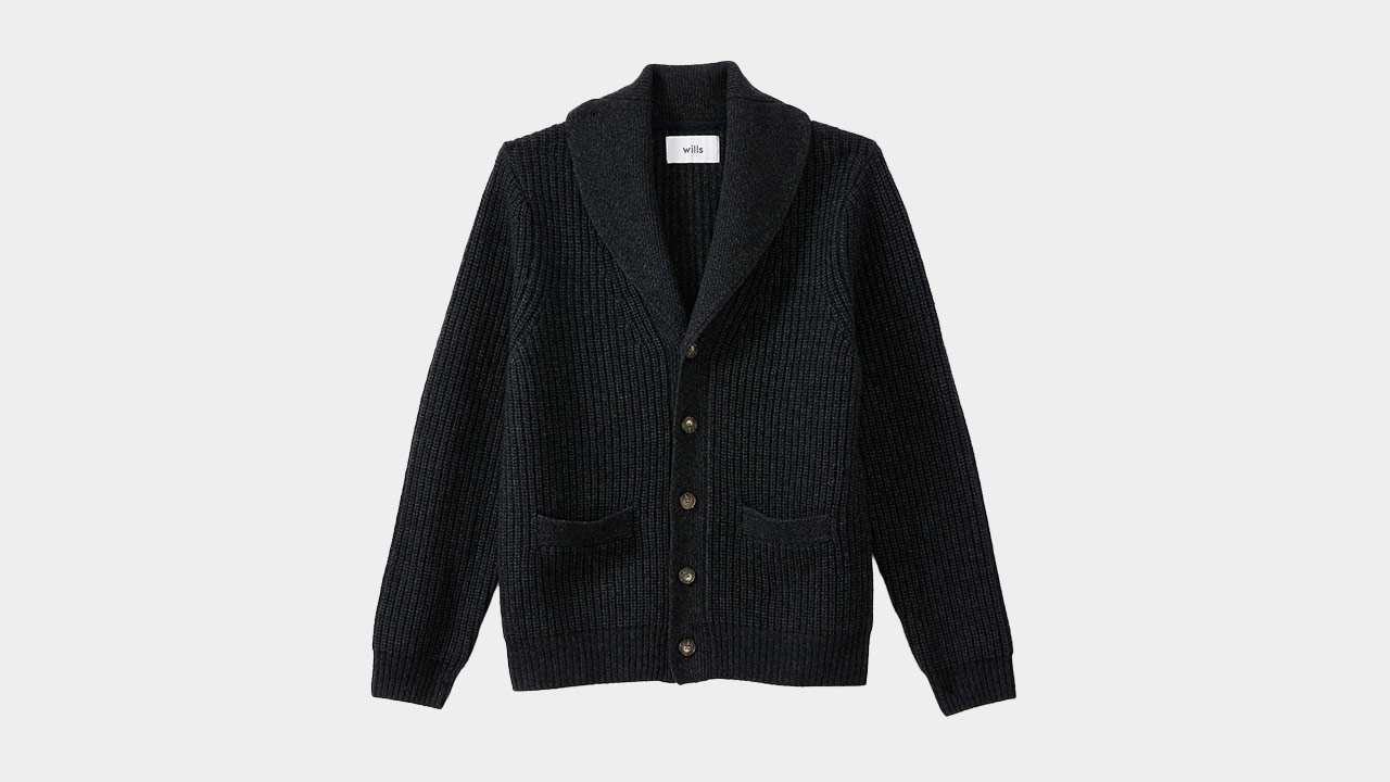 Wills Cashmere Shawl Collar Cardigan