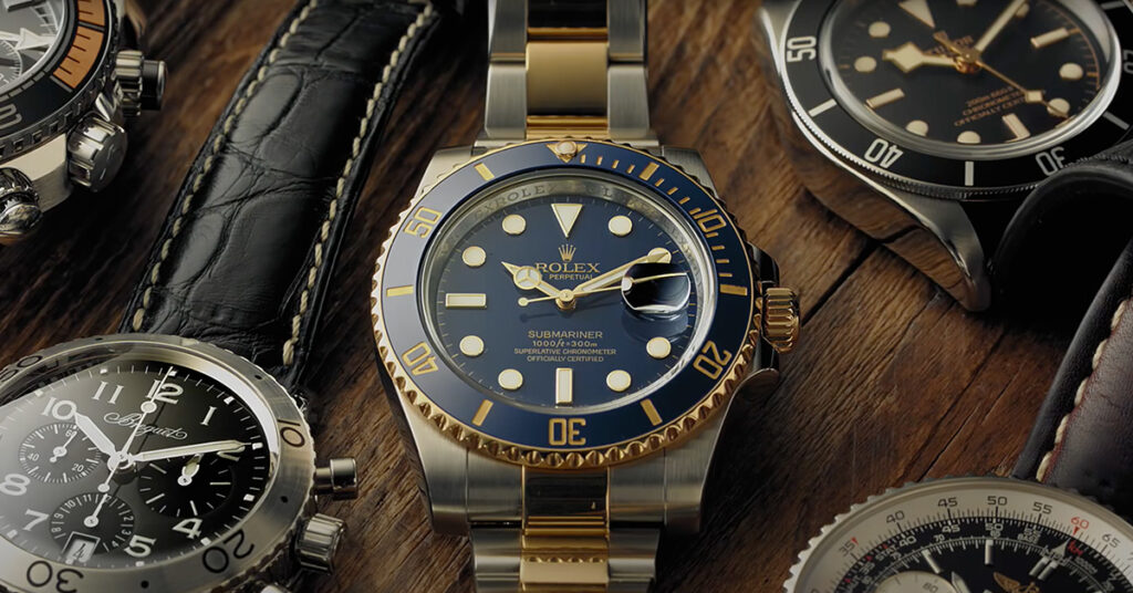 blue and gold rolex