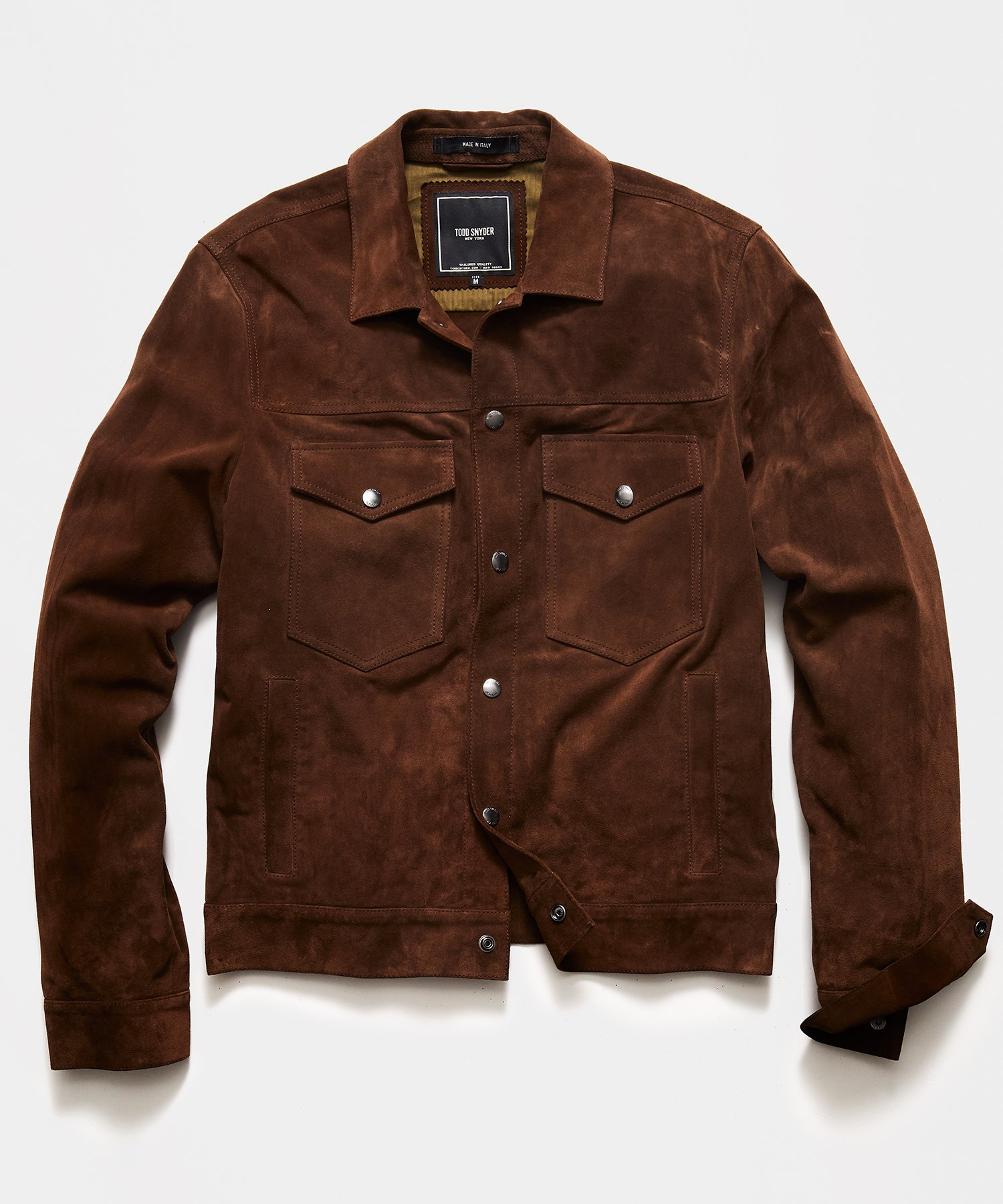 Todd Snyder Italian Suede Snap Dylan Jacket