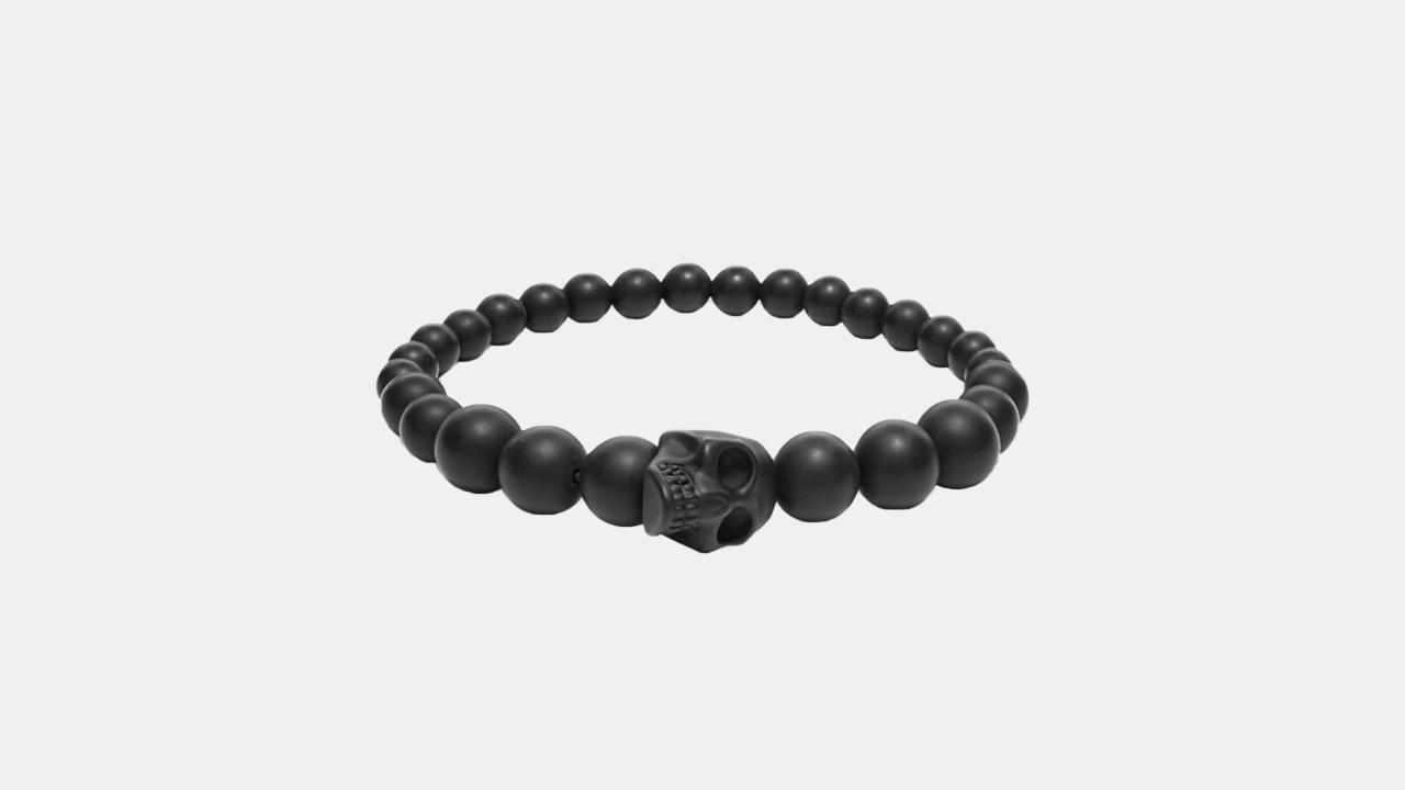 Alexander McQueen Black Skull Bracelet
