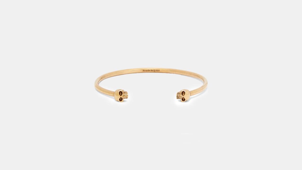 Alexander McQueen Skull Gold Cuff Bracelet