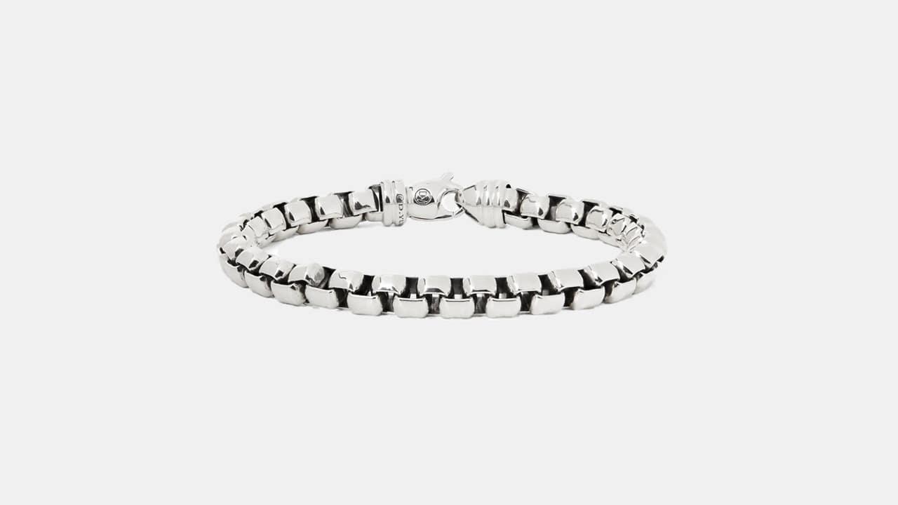 David Yurman Sterling Silver Chain Bracelet