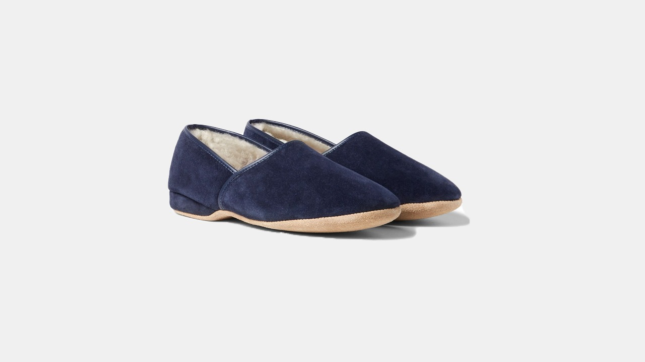 Derek Rose Crawford Suede Slippers