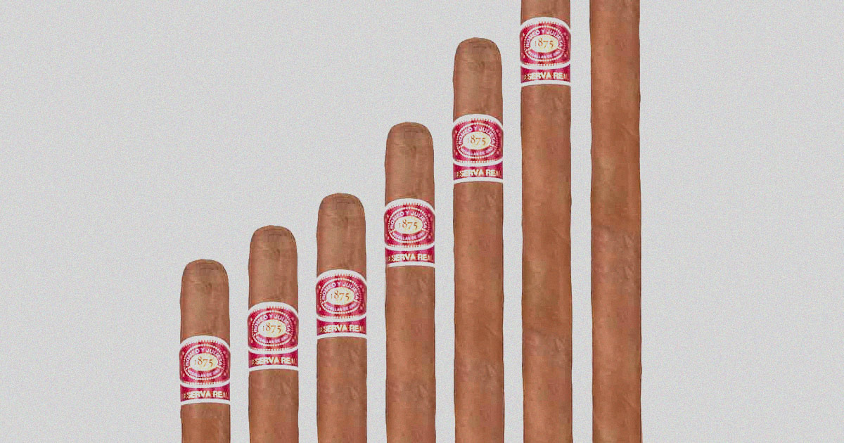 length of different cigars graphic