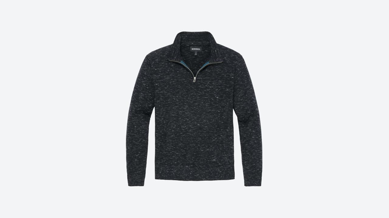 Bonobos Cotton Cashmere Half Zip