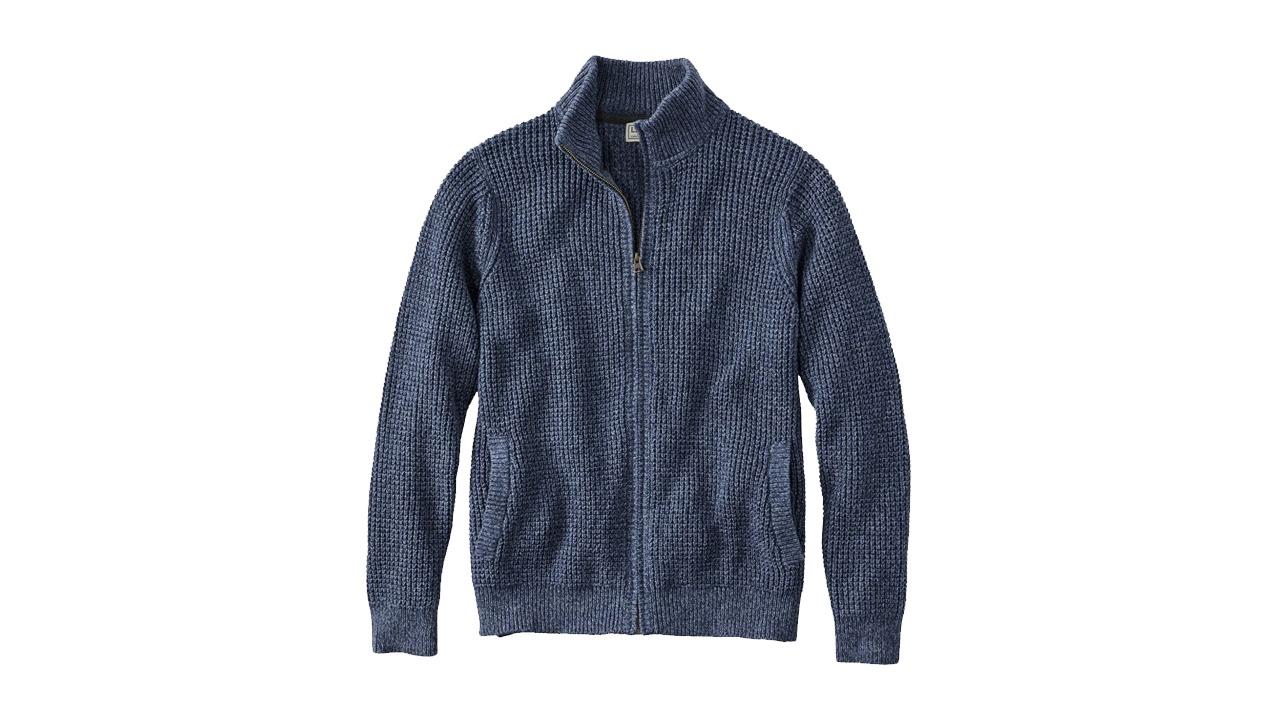 L.L. Bean Organic Cotton Full Zip Sweater