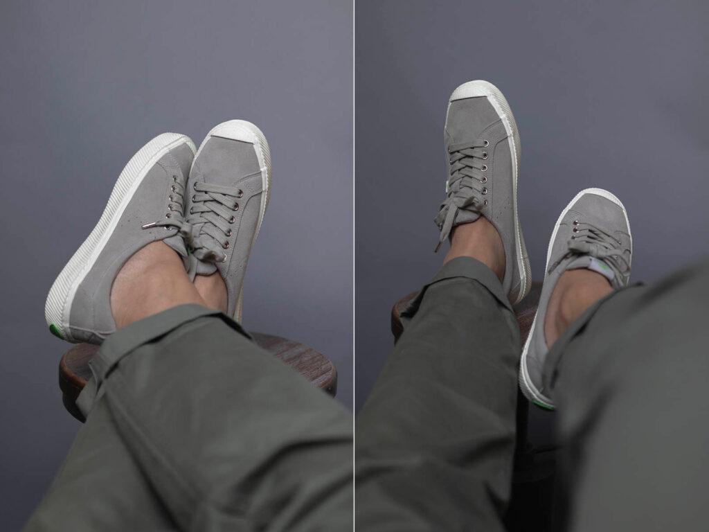 cariuma oca low grey on feet 6