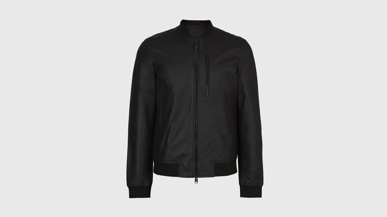 Allsaints Ivor Leather Bomber Jacket