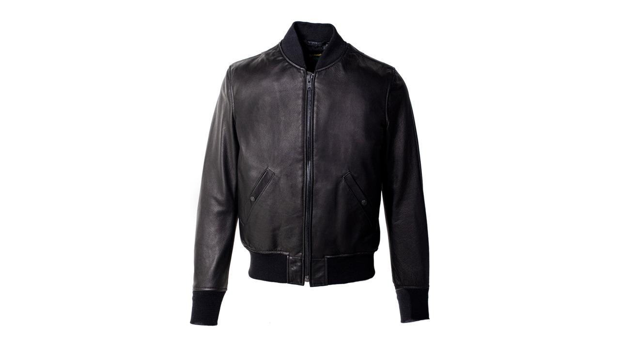 Schott Lightweight Leather Bomber Jacket