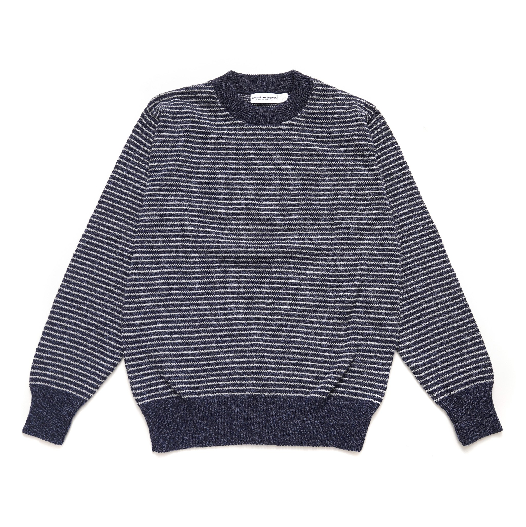 American Trench Narrow Stripe Marled Cotton Sweater