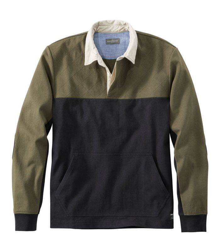 L.L. Bean Quilted Rugby Shirt