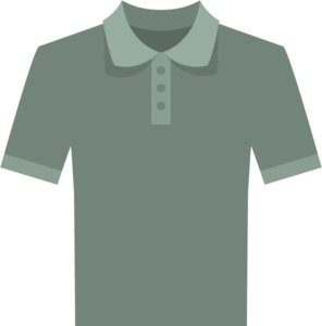 icon illustration of polo in a greenish grey color