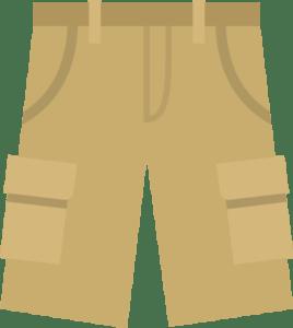 khaki cargo short icon illustration