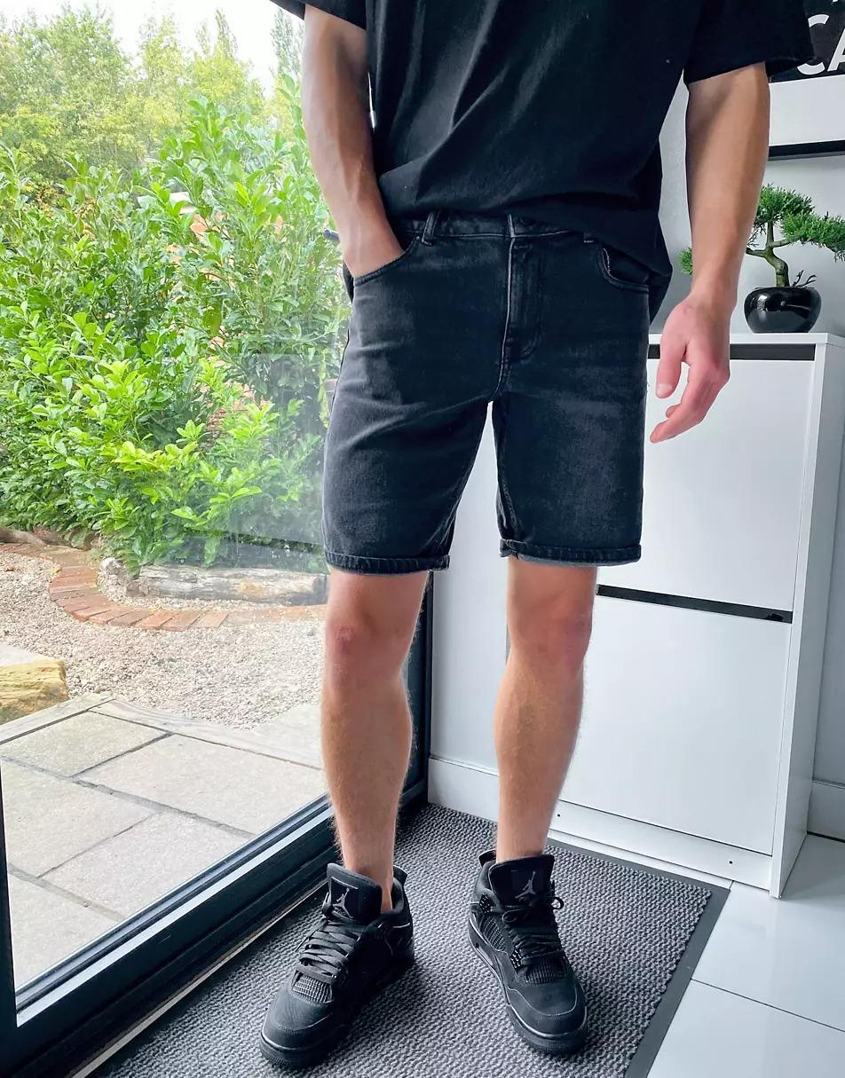 Asos Slim Denim Shorts