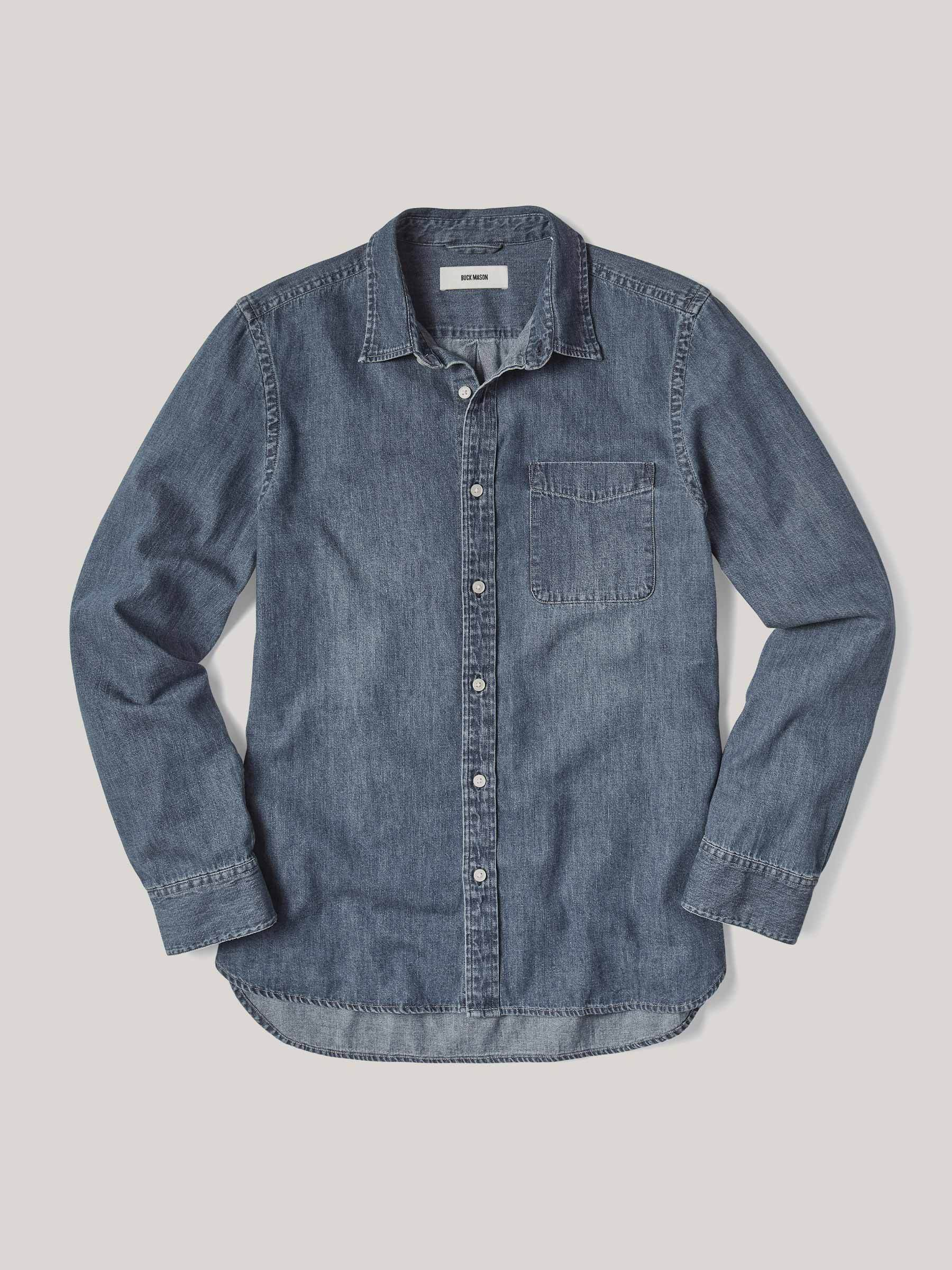 Buck Mason Denim Vintage One-Pocket Shirt