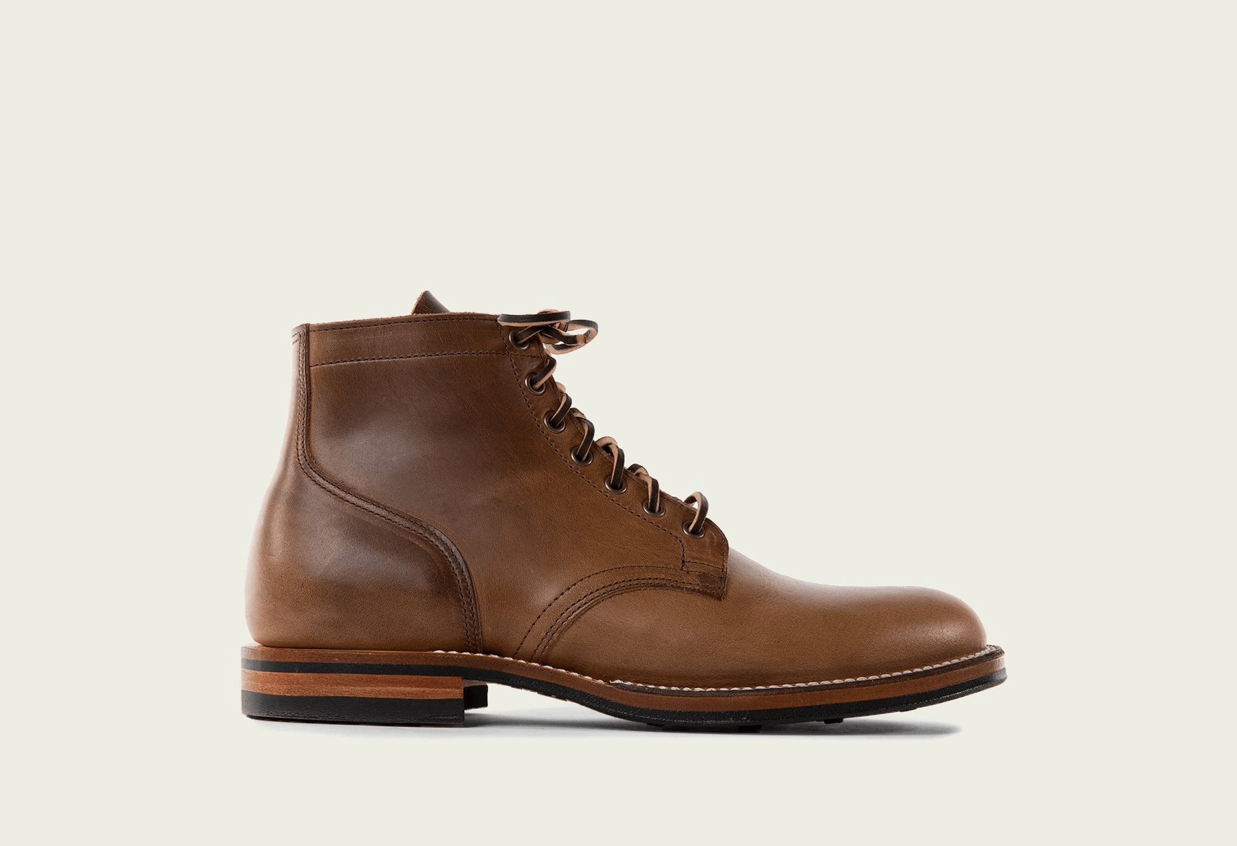Viberg Service Boots in Natural Chromexcel