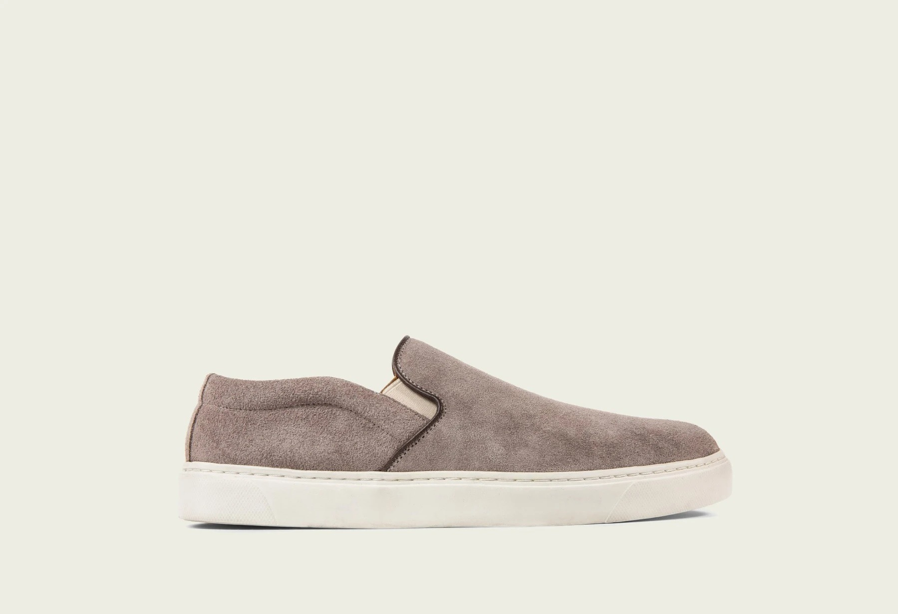 Viberg Slip-on in Eco Veg Pewter Suede Roughout