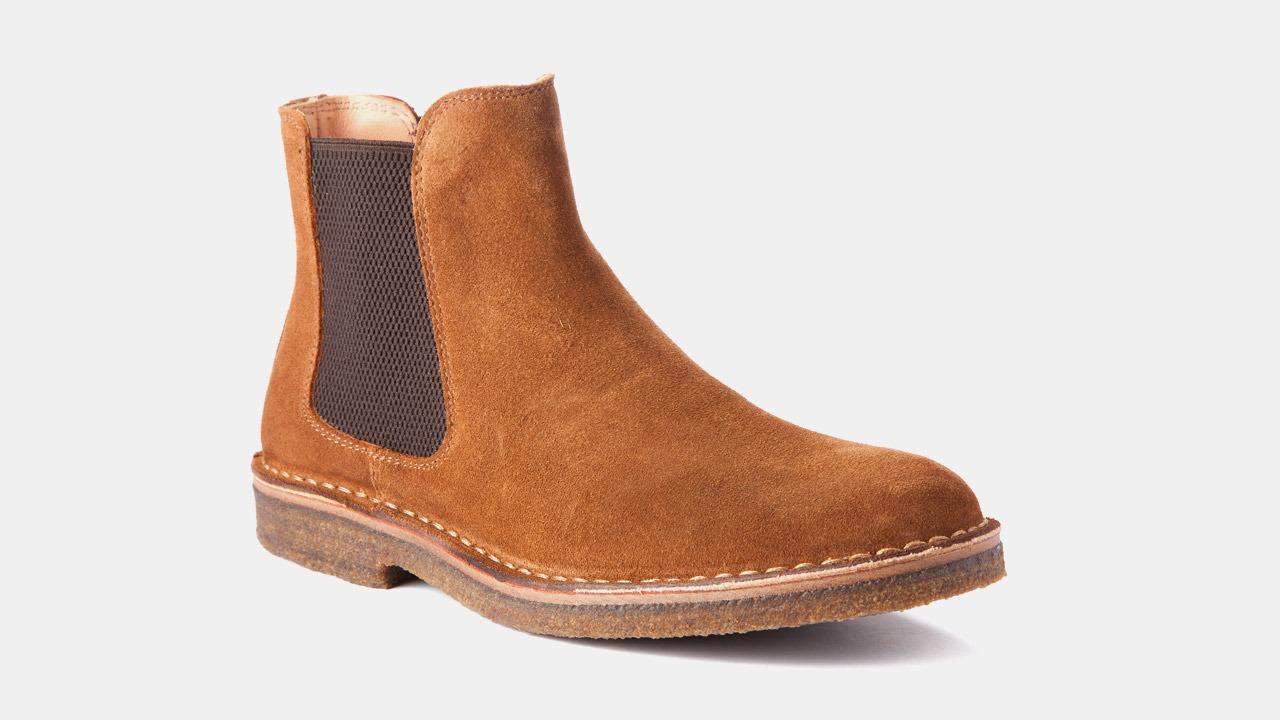 cognac colored chelsea boots astorflex