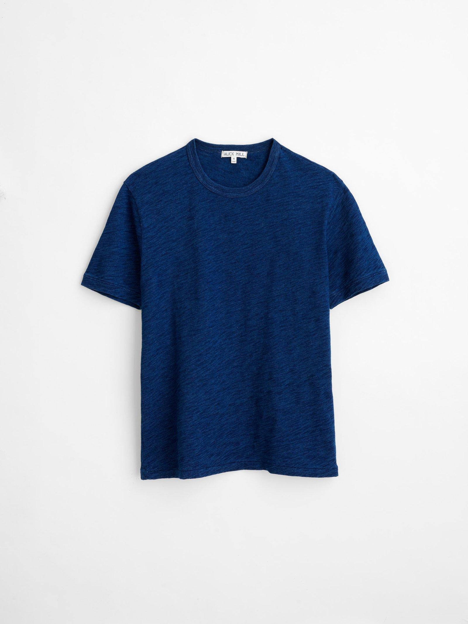 Alex Mill Standard T-Shirt in Indigo Slub Cotton