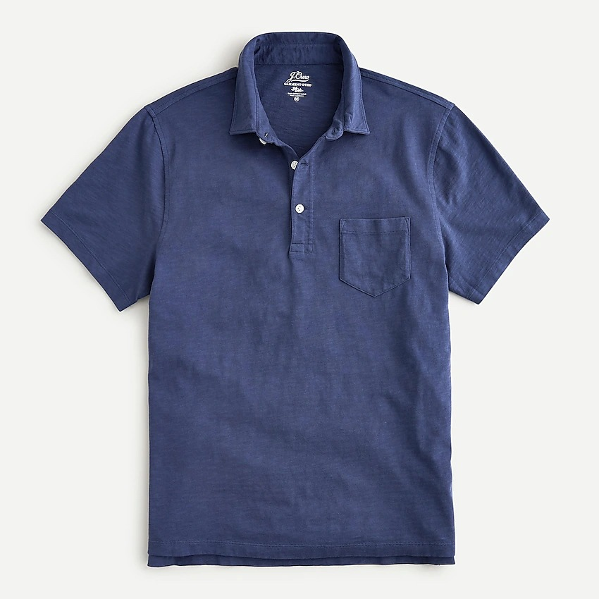 J.Crew Garment Dyed Slub Polos