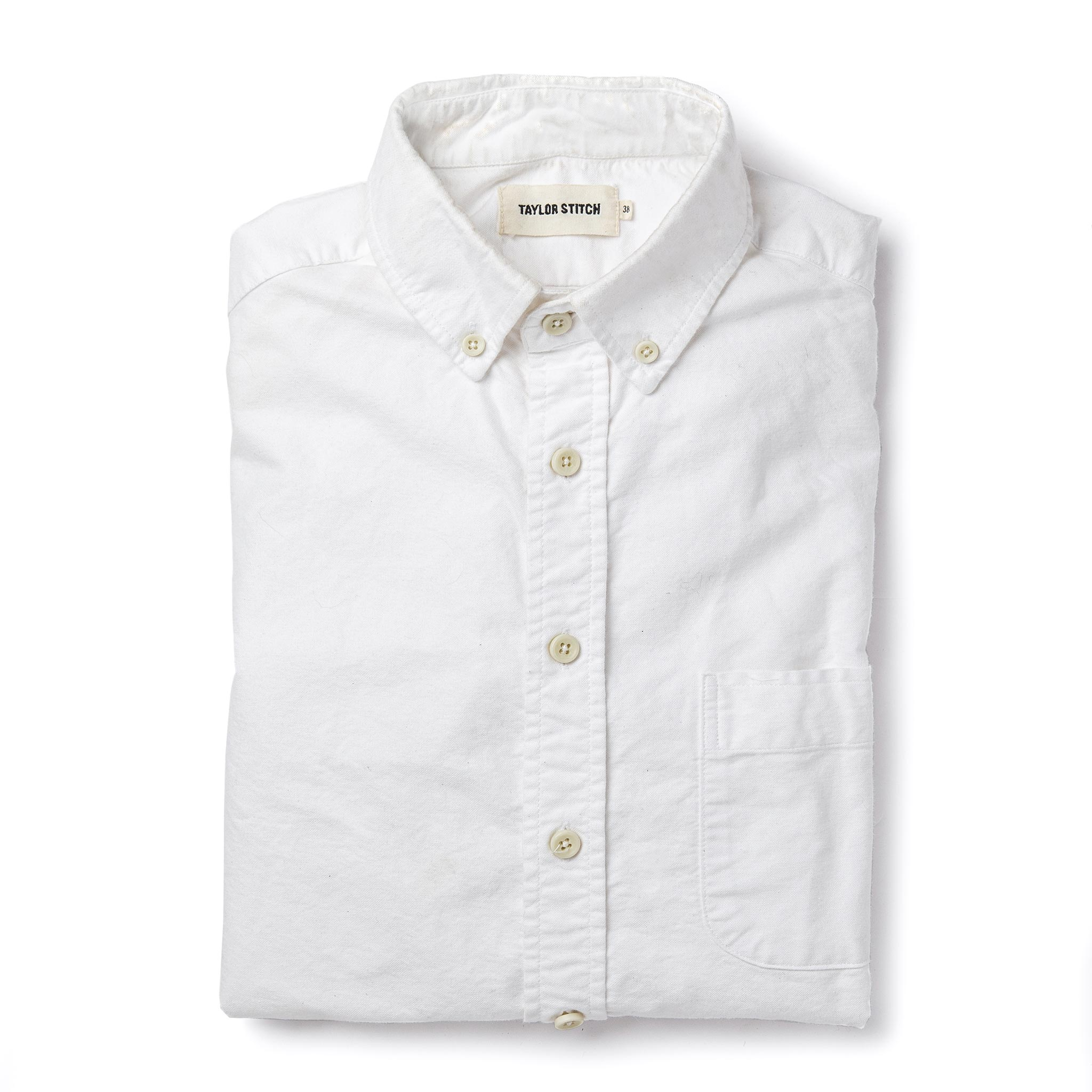 Taylor Stitch Jack Shirt in White Everyday Oxford