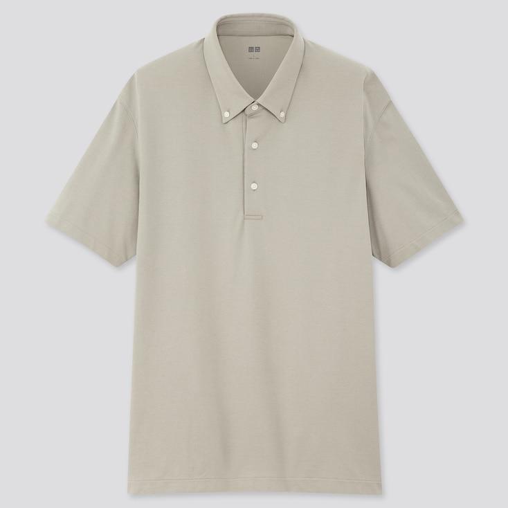 Uniqlo Men AIRism Pique Short-Sleeve Polo Shirt