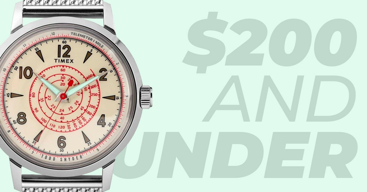 social image of watches under $200 featuring timex x todd snyder
