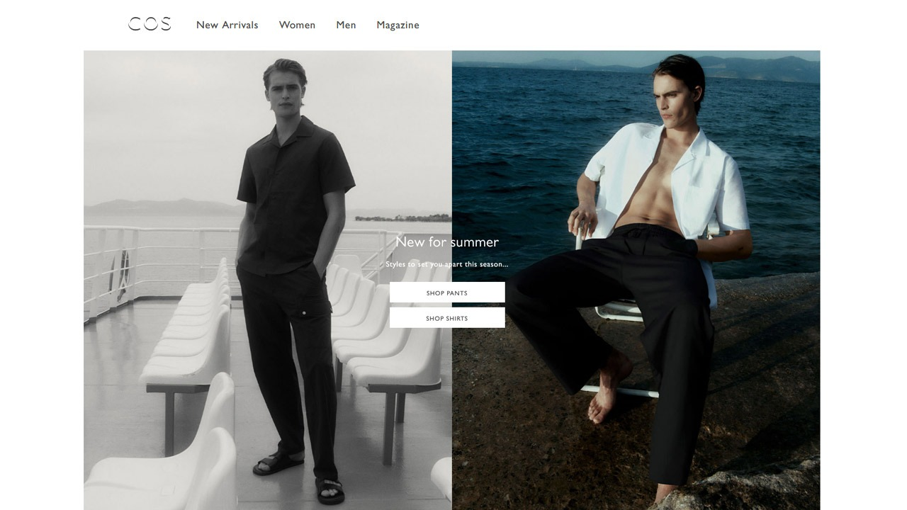 homepage of cos