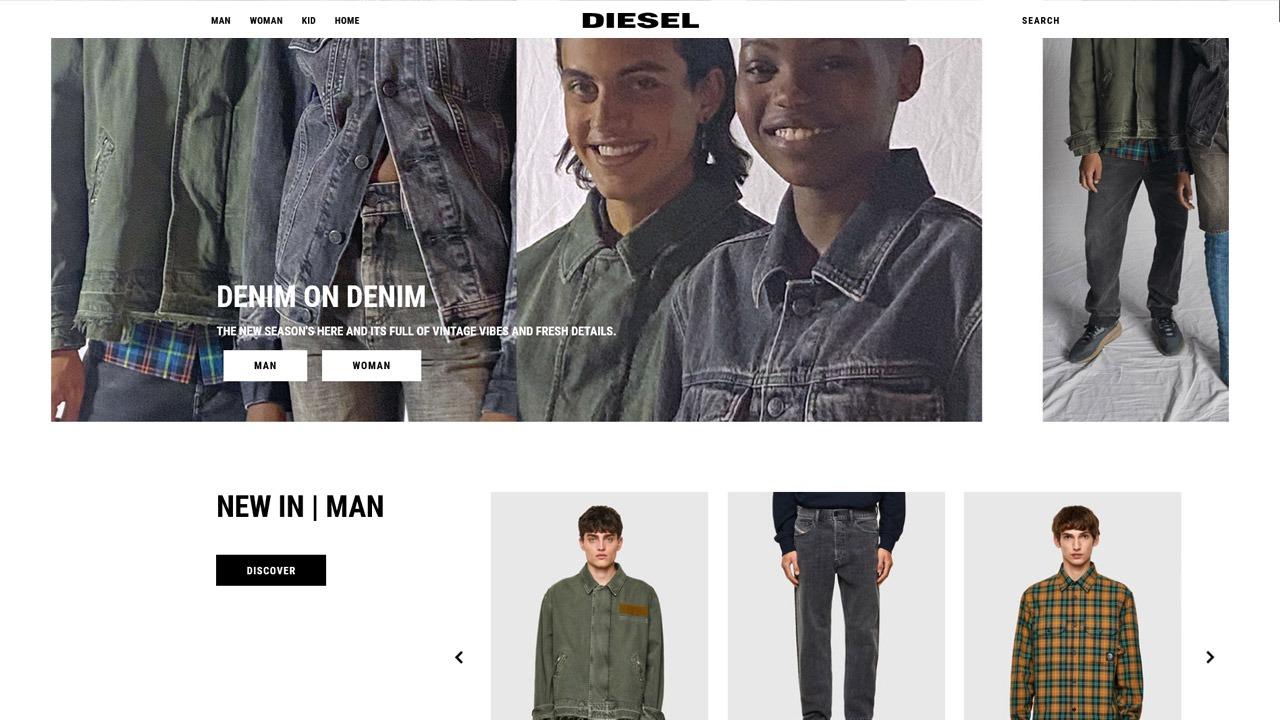 homepage of diesel